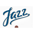 jazz volumetric hand drawn lettering 3d vector image