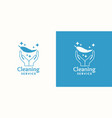 logo for company cleaning service vector image vector image