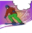 Man skier skiing in mountains vector image vector image