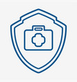 medical protection icon design vector image vector image