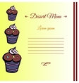 MuffinCard2 vector image vector image