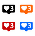 new three like icons set vector image vector image