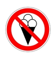 No ice cream symbol 803 vector image vector image
