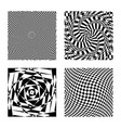 optical illusion op graphic art hypnotic vector image