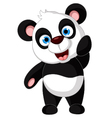 panda cartoon posing vector image vector image