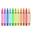 pastelate pencils isolated realistic vector image vector image