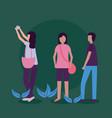 people activities outdoors vector image vector image