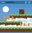 pixelated landscape videogame scenery vector image