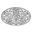 renaissance elliptic panel is a german design vector image vector image