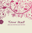 Romantic Floral Background vector image