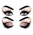 rose gold eye make up vector image vector image