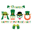 saint patricks day and party props - hats vector image vector image