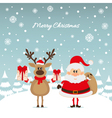 Santa Claus and reindeer with gifts The Christmas vector image vector image