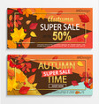 set modern banners for autumn super sale vector image vector image