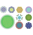 Set of geometric labels vector image vector image