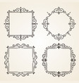 set victorian vintage decorations elements and vector image