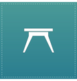Small table icon sign and button vector image vector image