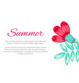 summer theme beautiful poster vector image vector image