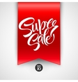 Super Sale lettering with sale labels vector image vector image