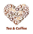 tea and coffe poster for coffeehouse cafe vector image