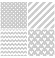 tile pattern set with white print on grey vector image