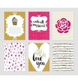 Valentines day and romantic collection vector image