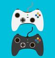 video game controller set gamepads vector image