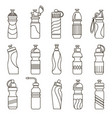 water bottles set vector image