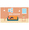 work from home vector image vector image