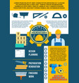 work tools poster for repair or renovation vector image