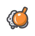 wrecking ball destruction icon cartoon vector image