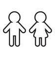 Man and Woman contour line icon Restroom symbol vector image