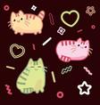 cat kawaii style kitten kitty pet on vector image