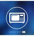 microwave icon kitchen equipment electronics vector image