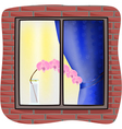 Orchid on window sill vector image
