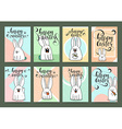 Set of ready designs for print Easter greeting vector image