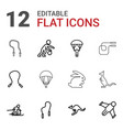 12 jump icons vector image vector image