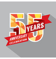 55th Years Anniversary Celebration Design vector image vector image