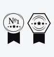 a sign premium class medal with a star and vector image vector image