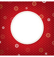 Abstract Red Background With Speech Bubble vector image vector image