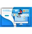 accounting firms provides data analysis vector image vector image