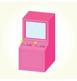 Arcade machine cabinet isolated vector image vector image