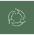 Arrows circle icon drawn in chalk vector image vector image