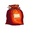 bag with presents vector image vector image