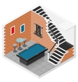 Basement isometric icon set vector image vector image