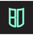bd logo monogram with ribbon style design template vector image vector image
