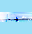 beautiful bokeh beach background with couple vector image