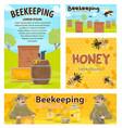 beekeeping honey apiary beekeeper posters vector image vector image