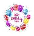 birthday celebration banner with colorful confetti vector image vector image