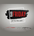 black friday discount banner for event red splash vector image